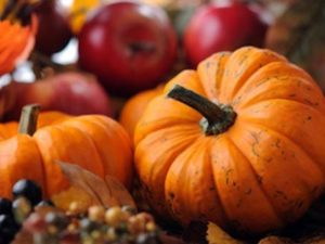 Fall Menu Featuring Apple and Pumpkins